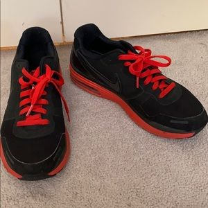 Men's Black And Red Nike Shoes Size 10